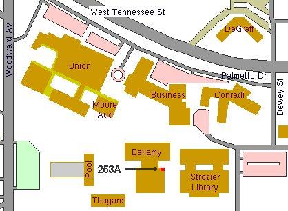 Florida State Campus Map.Bellamy Hall